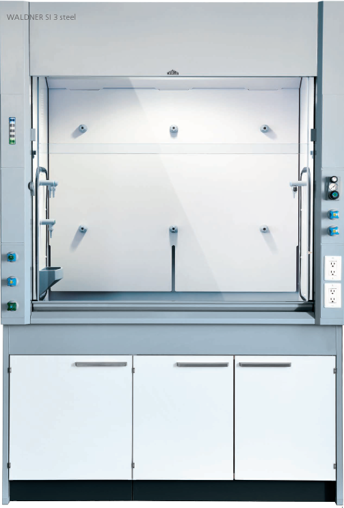 Fume cupboard with side installation, made of steel: SI 3 steel