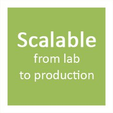 Scalable from lab to production